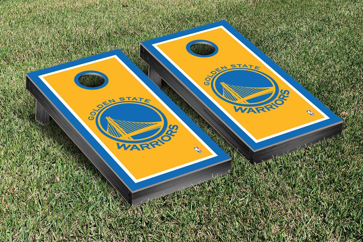 Golden State Warriors NBA Basketball Cornhole Game Set Border Version by Victory Tailgate