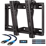 Mounting Dream MD2268-S TV Wall Mount Tilting Bracket for Most 26-42 Inch LED, LCD and Plasma TVs up to VESA 200 x 200mm and 44 LBS Loading Capacity, 6 FT HDMI Cable and Bubble Level