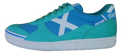 Munich G3 - Zapatillas de fútbol sala verde menta 311583, azul turquesa: Amazon.es: Zapatos y complementos