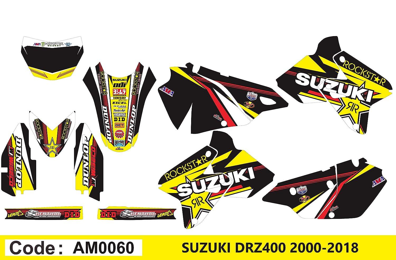 Am0060 Suzuki Drz 400 2000 2012 Decals Stickers Graphics Kit Dog
