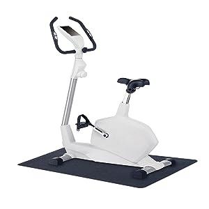 "MotionTex 8M-110-24C-4 Fitness Equipment Mat, 24"" x 48"", Black"