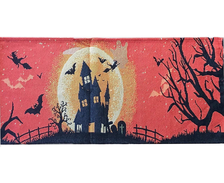 Granite Mountain Products ハロウィーンテーブルランナー装飾:ハロウィーンパーティーや怖い映画の夜に最適な秋のテーブル装飾   B07Q3YM396