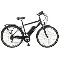 SAXXX Touring E-Bike Pedelec Hinterradmotor 10,4Ah 250W 36V Lithium-Ionen Akku Shimano 7Gang Kettenschaltung Federgabel schwarz matt oder Silber matt