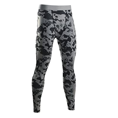 DALLNS Mens Compression Pants Jogger Fitness Excercise Bodybuilding Compression Tights Long Trousers Pants