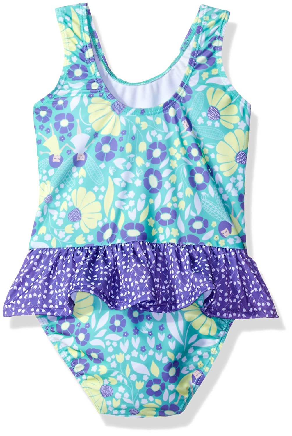 Serena Contrast Swimsuit with Ruffle Skirt Flap Happy Girls UPF 50