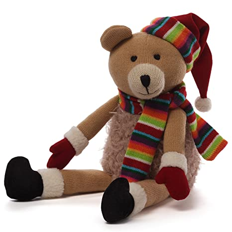 9655f3a60f04b Image Unavailable. Image not available for. Color  GUND Christmas Knit Bear  Plush ...