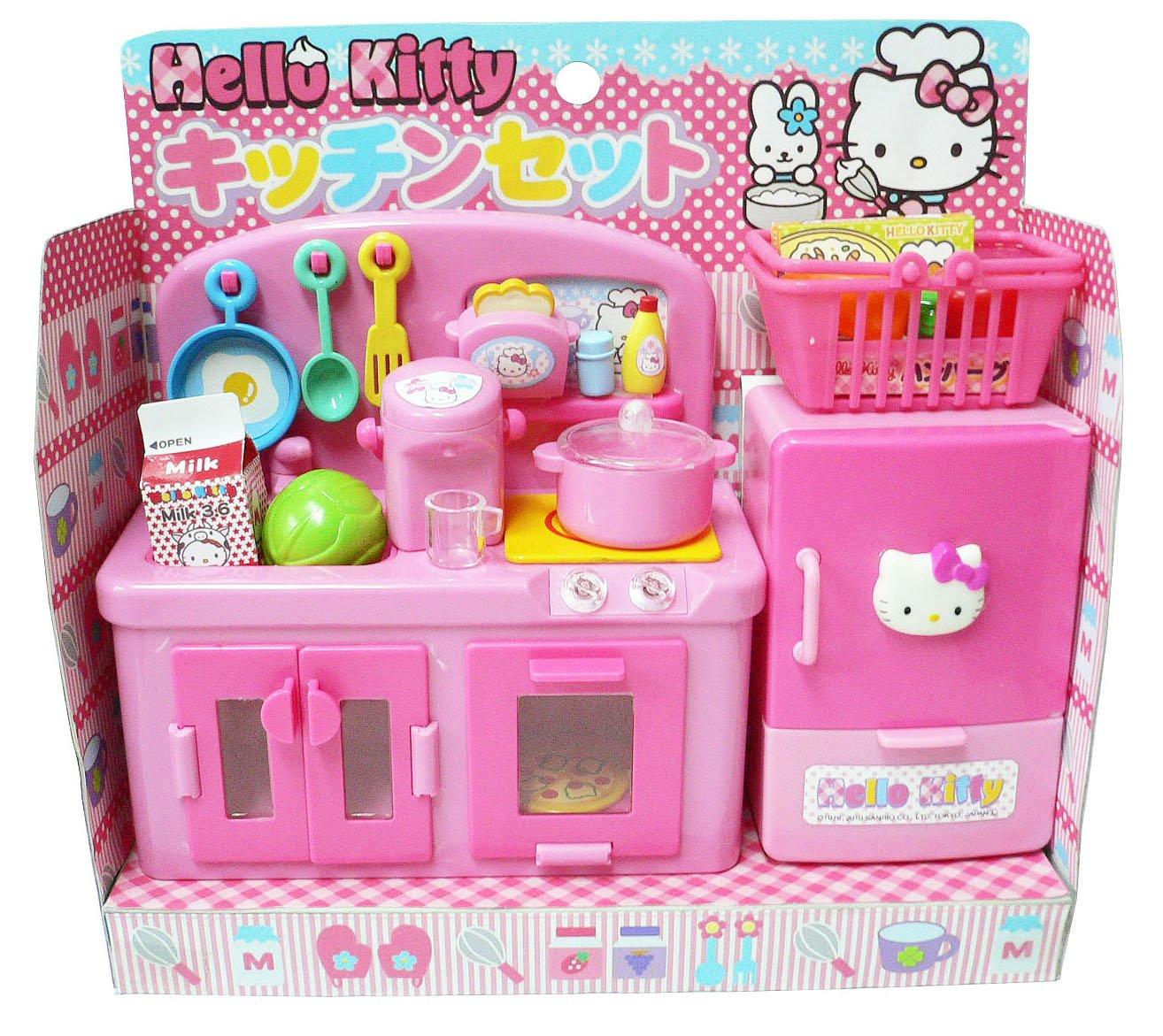 Amazon.com: Hello Kitty Kitchen Play Set Miniature Toy Preschool ...