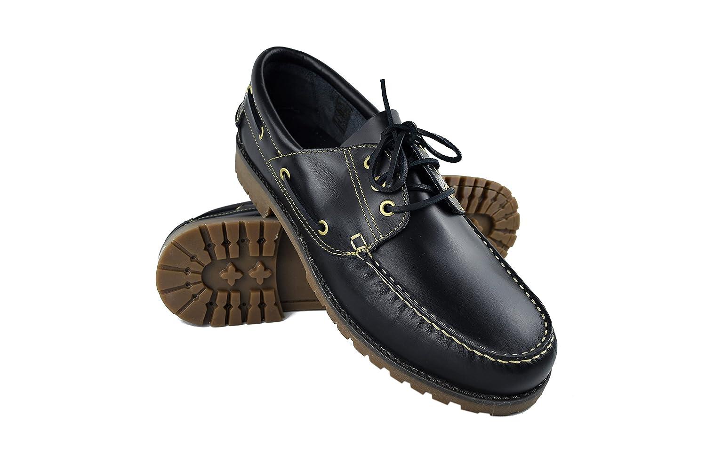 Zerimar Zapato Náutico de Piel para Hombre Tallas Grandes Náutico para Hombre 49 EU|Azul Navy