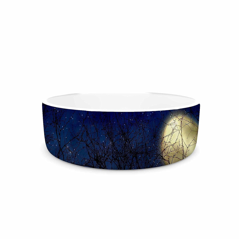 KESS InHouse Sylvia Coomes bluee Moon bluee Celestial Pet Bowl, 7
