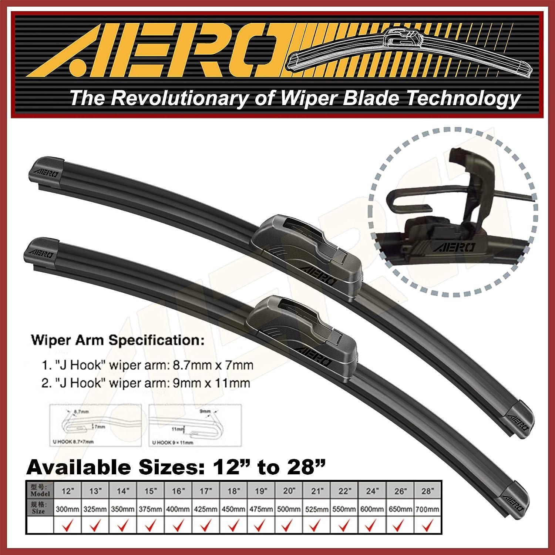 16 AERO Premium All-Season Windshield Wiper Blades Set of 2 OEM QUALITY 26