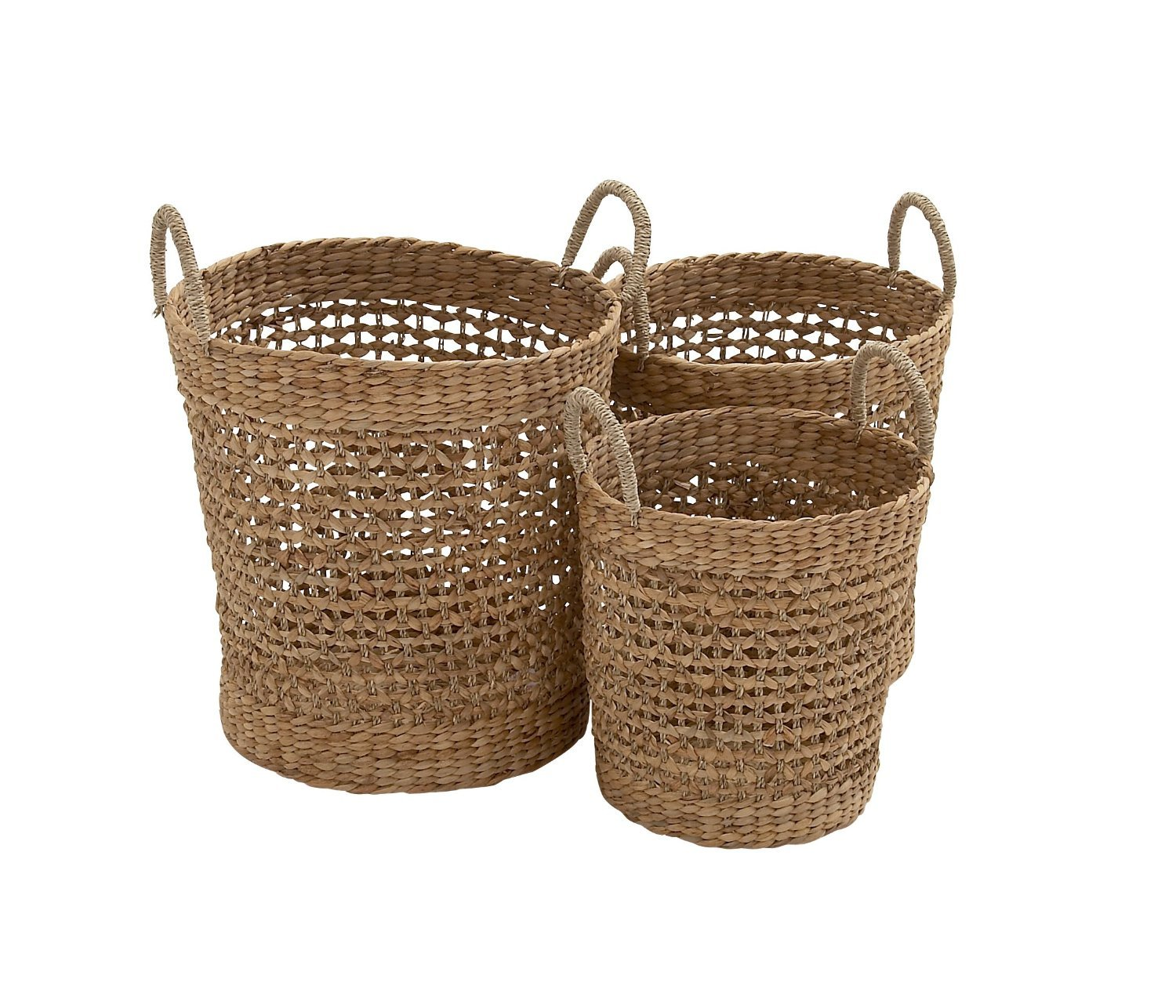 SEAGRASS BASKET S/3 21'', 18'', 16''H