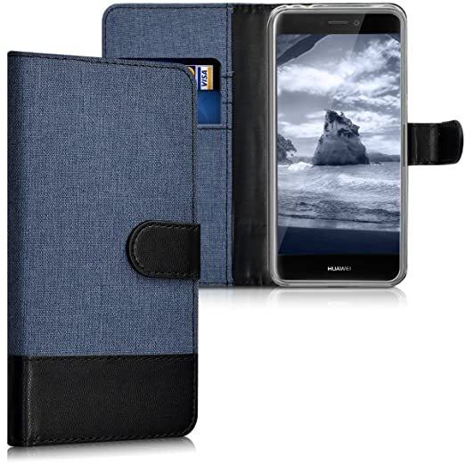2 opinioni per kwmobile Custodia portafoglio per Huawei P8 Lite (2017)- Cover in simil pelle a