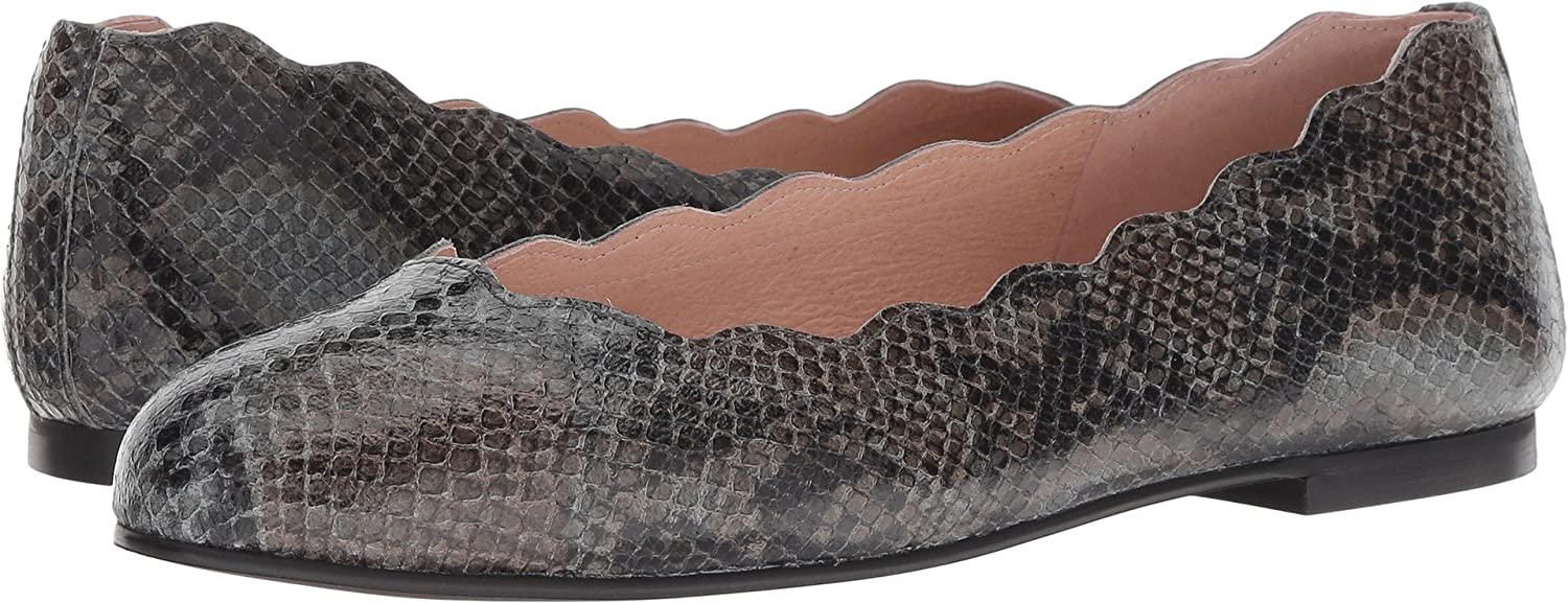 French Sole FS/NY Women's Jigsaw Ballet Flat B07BWFJSVY 11 B(M) US|Carbon Grey Snake