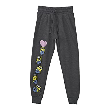 8b21a7804 Minions Girls' Relaxed Regular Fit Cotton Trousers (MI1EPB2708_Anthra  Mel_4-5 Years)