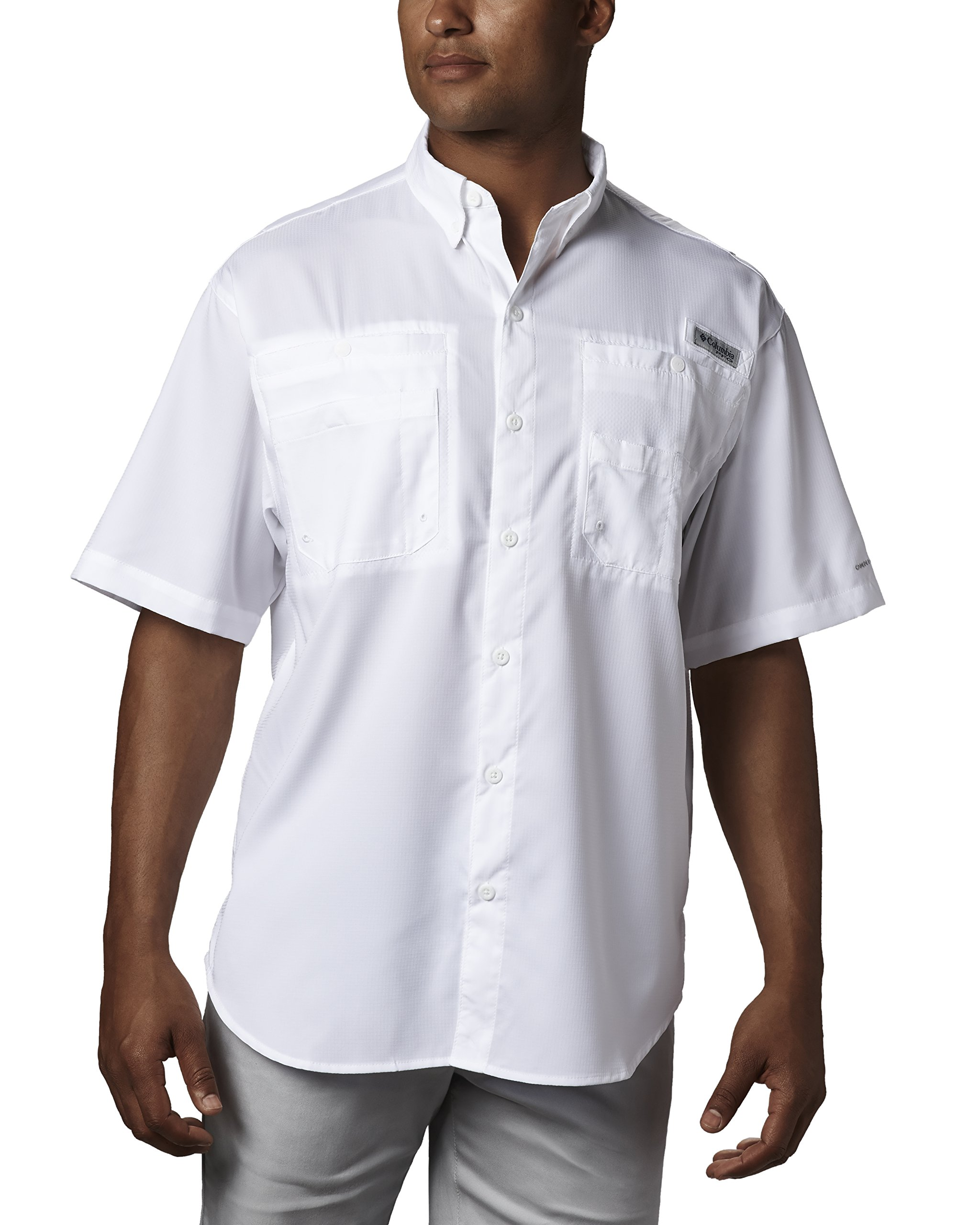 Columbia Men's Tamiami II Short Sleeve Fishing Shirt, White, X-Small