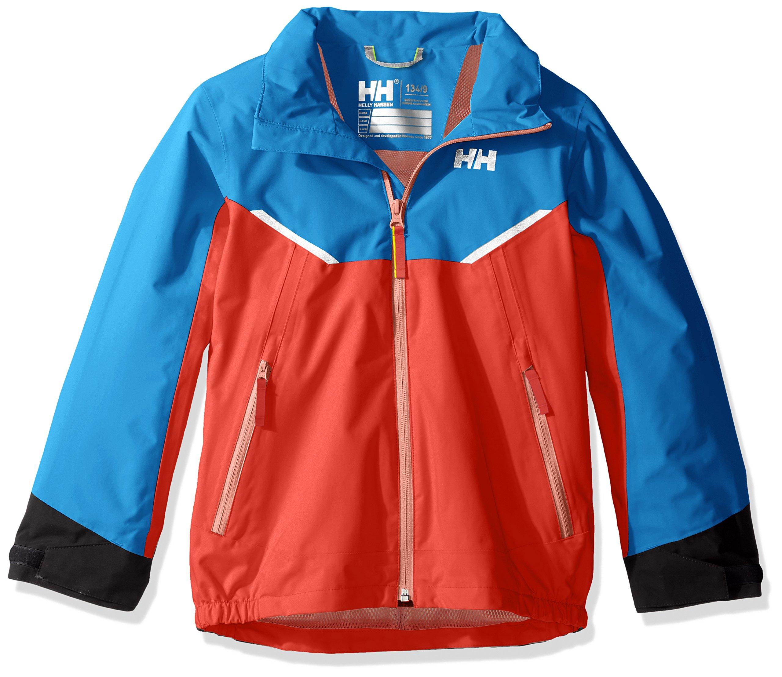 Helly Hansen Kids Shelter Waterproof Rain Jacket Coat, 102 Cayenne, Size 1 by Helly Hansen (Image #3)