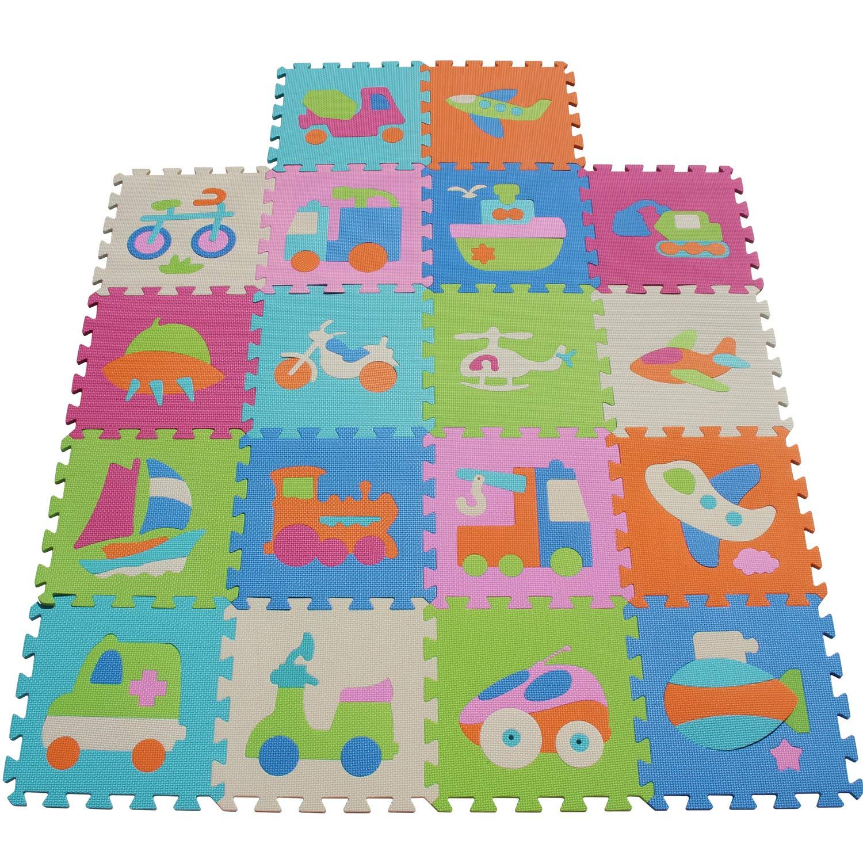 XMTMMD Schaumstoff Puzzle Matte Fruits Baby Gym Puzzle Spielmatte Kids Interlocking Soft Boden Fliesen Kinder Zimmer Play Bereich 18PCS AMP010010G301018