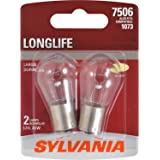 SYLVANIA - 7506 Long Life Miniature - Bulb, Ideal for Daytime Running Lights (DRL) and Back-Up/Reverse Lights (Contains…