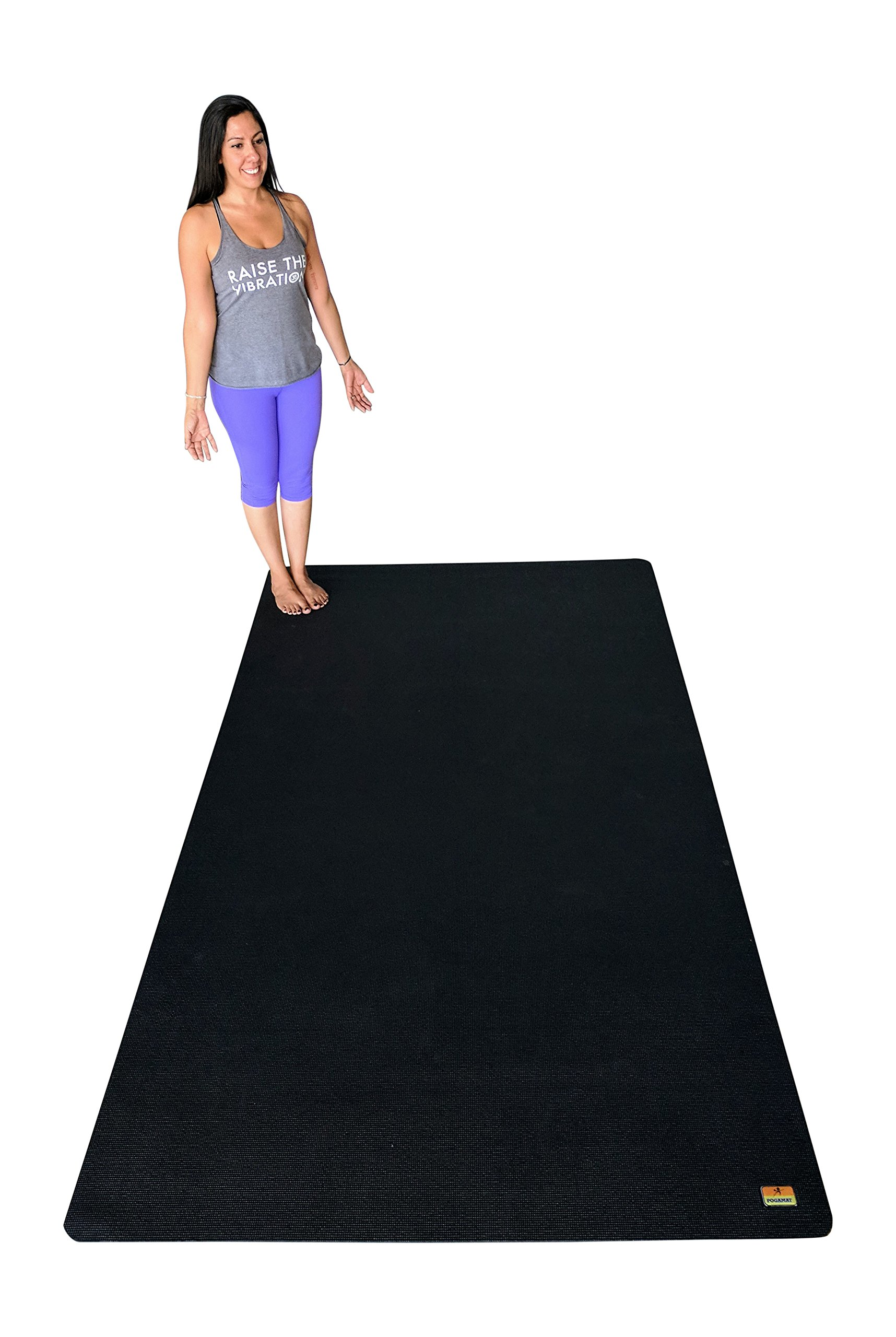 3X Large Yoga Mat And Stretching Mat - 9ft X 5ft x 7mm Thick (108''x 60'') Anti-Tear & Non Slip Yoga Exercise Mat - Extra Long Memory Foam. Pogamat Yoga Mats For Yoga & Cardio Fitness Mat WITHOUT Shoes by Pogamat (Image #3)