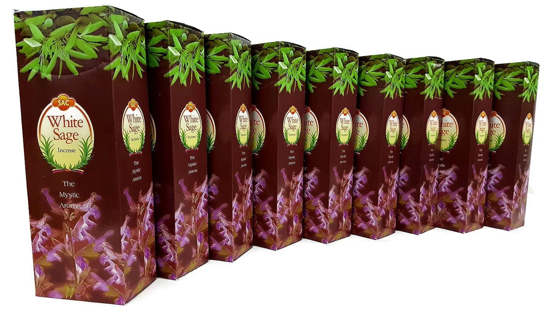 JBJ Sacホワイトセージ9ボックスの120 Incense 商品 Sticks 080 = 予約販売品 B01LZLHMCB
