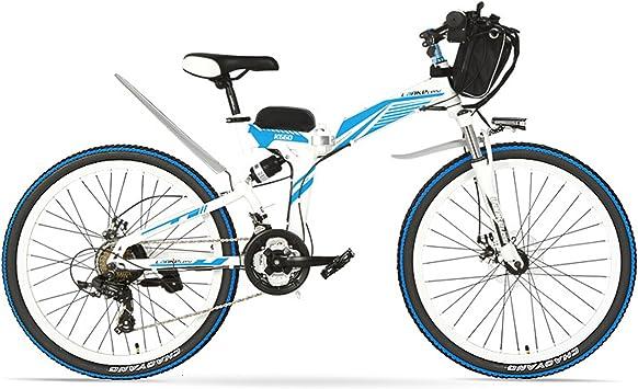 LANG TU Bicicleta de montaña eléctrica Plegable de 26 , batería ...