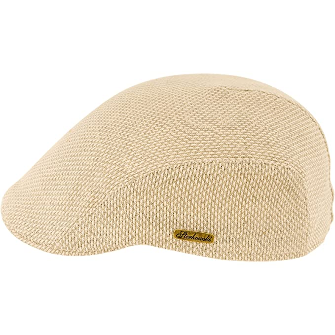 afcf5cd55 Sterkowski Men's Summer Linen Canvas Flat Cap