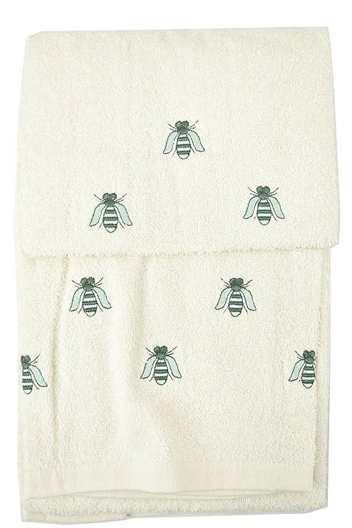 Toallas Rizo Con Bordado – Viso + bidé, verde, abejas