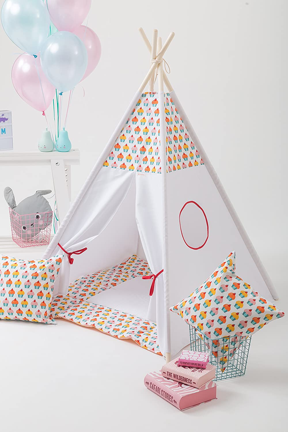 kinder tipi teepee zelt set tipi spieldecke kissen. Black Bedroom Furniture Sets. Home Design Ideas