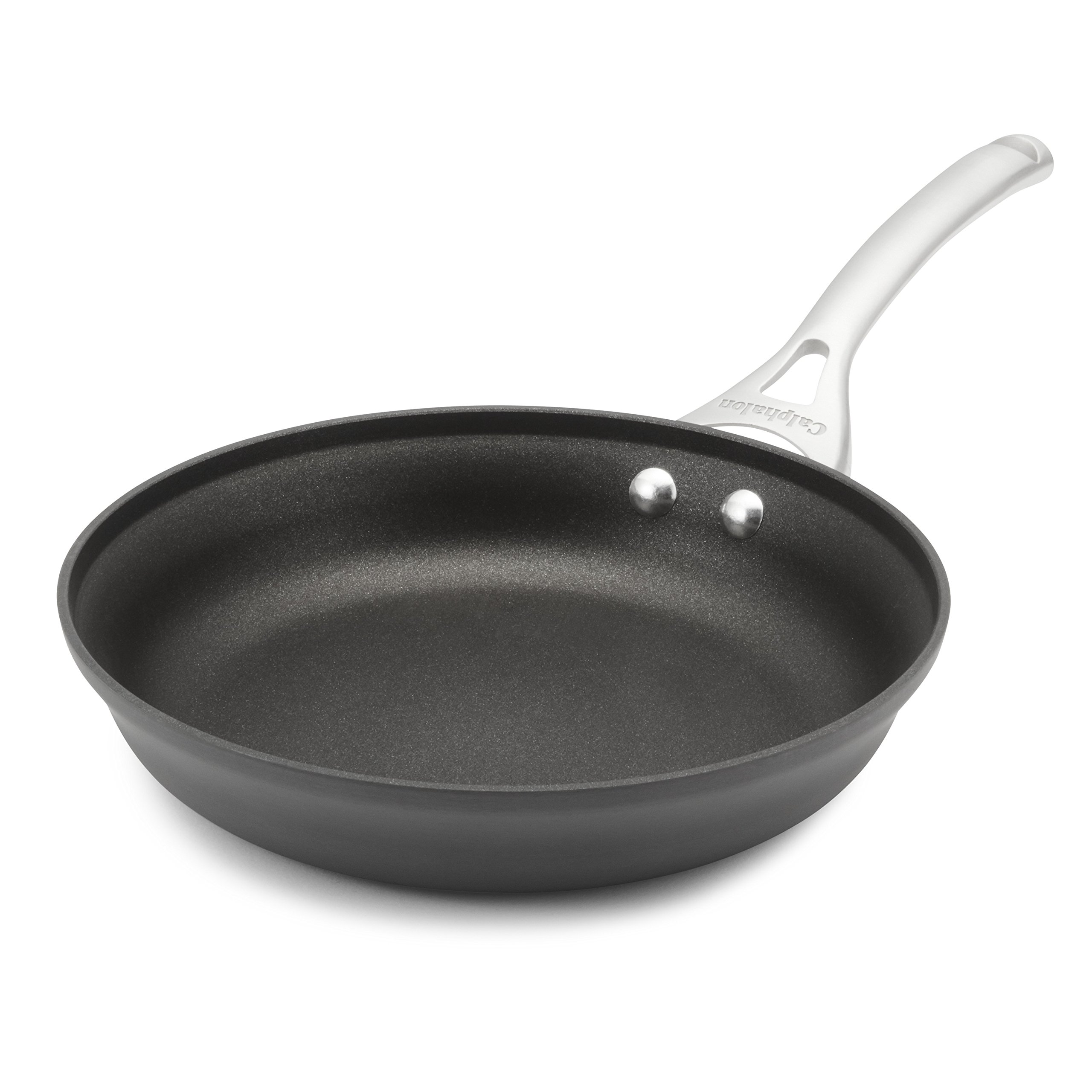 Calphalon Contemporary Hard-Anodized Aluminum Nonstick Cookware, Omelette Fry Pan, 10-inch, Black