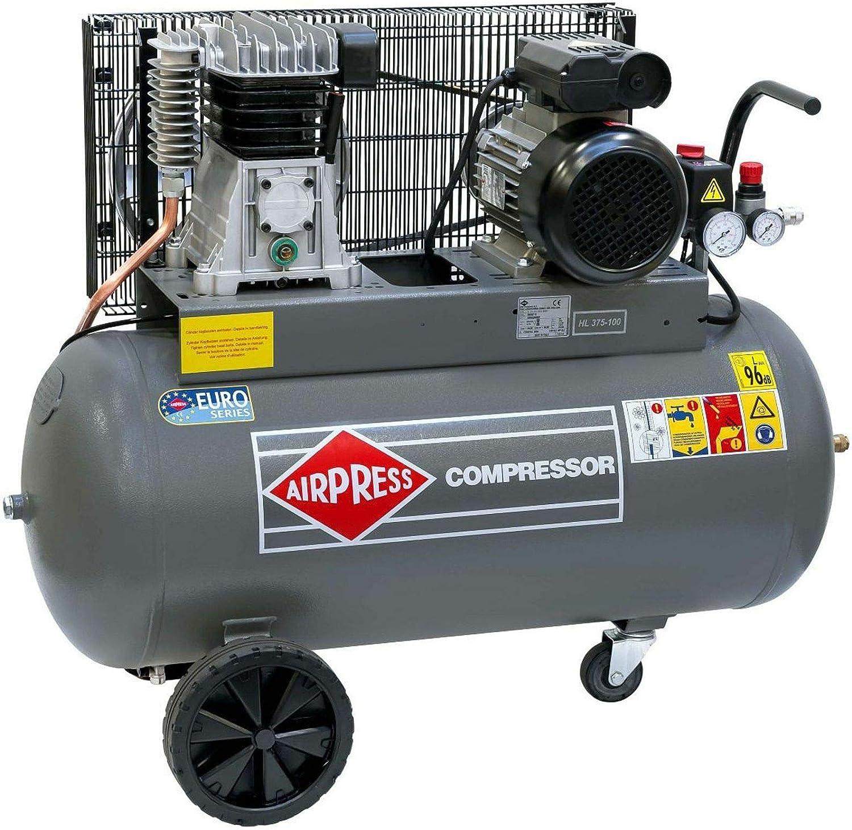 Airpress Druckluft Kompressor Hl 375 100 2 2 Kw Max 10 Bar 90 Liter Kessel Stromanschluss 230 V Baumarkt