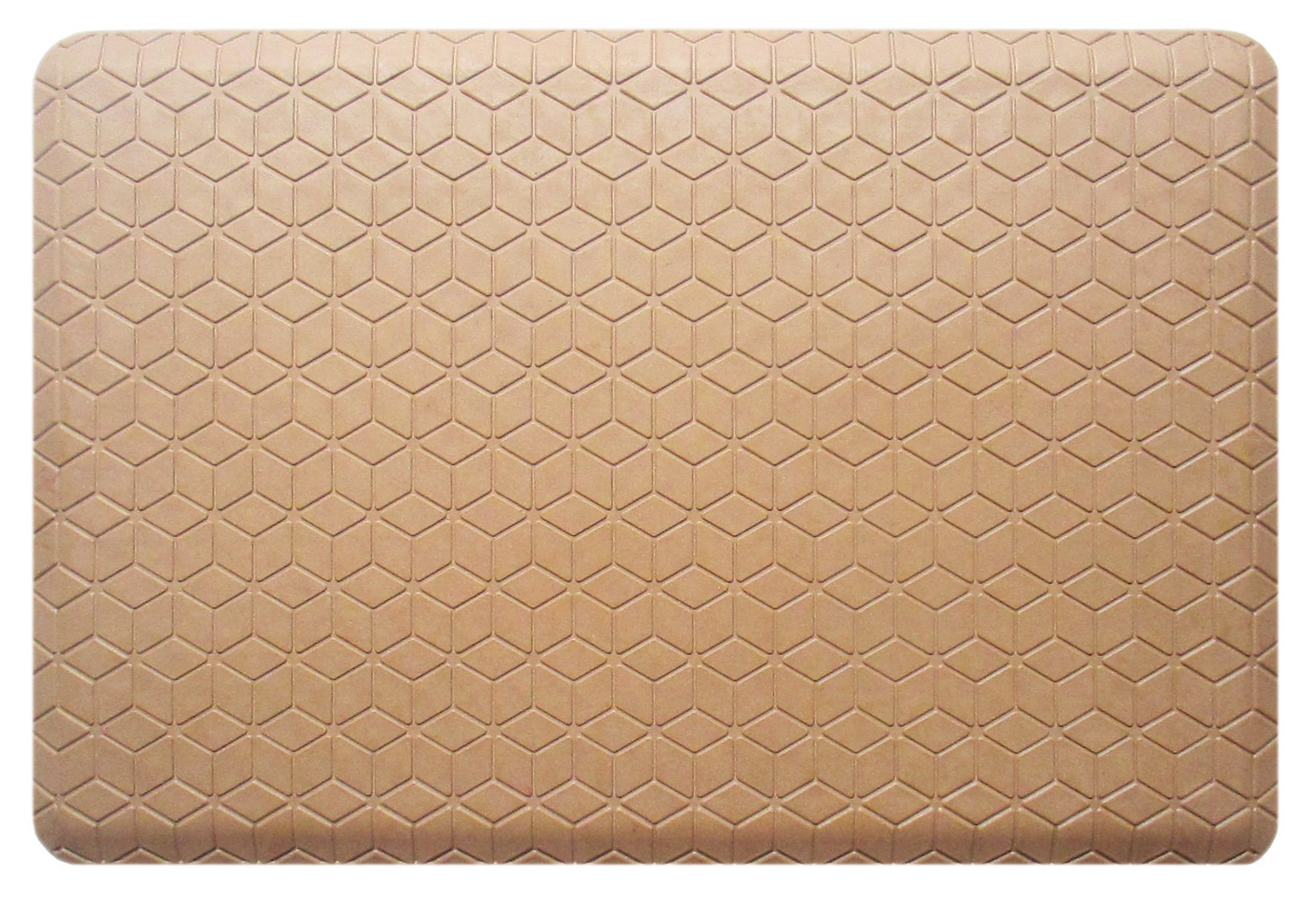 A1 Home Collections A1HCKM02-Tan Doormat Safety Grip,Waterproof,100% Rubber,Luxurious,Anti-Fatigue Mat,24''X36''
