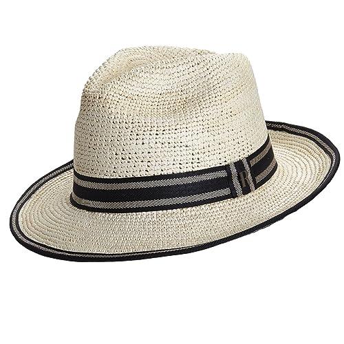 RACEU ATELIER Sombrero Panamá Crochet Andy Natural - Sombrero Mujer -  Tejido a Mano - Cuenca ea6ce380980