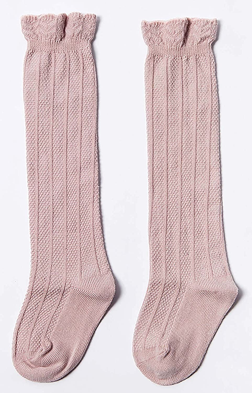 Happy Cherry 3er Pack Baby Kniestr/ümpfe Knielang Socken Kleinkind Baumwolle Stulpen 0-3 Jahren