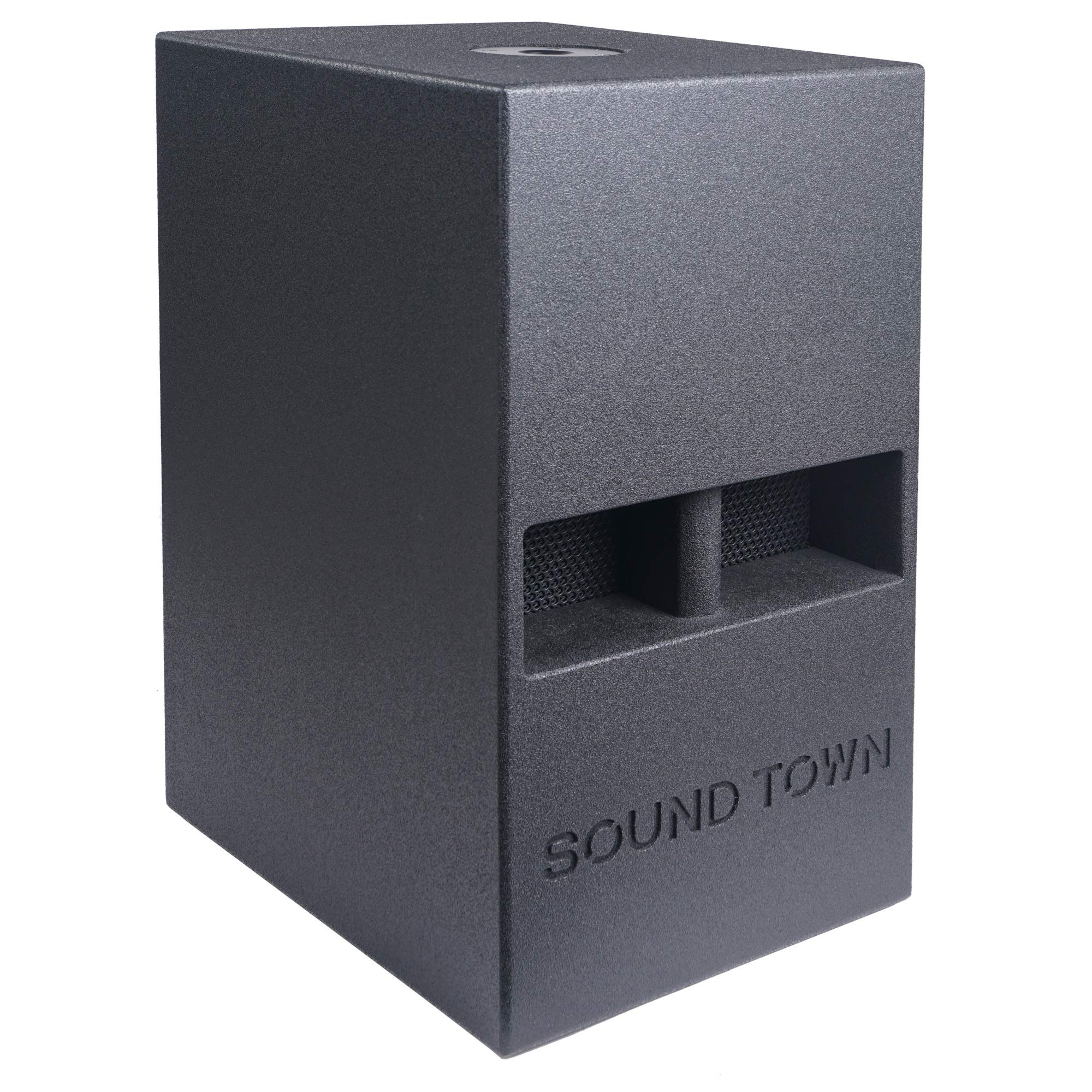Sound Town CARME Series 12'' 800W Powered PA/DJ Subwoofer with Folded Horn Design, Black (CARME-112SPW) by Sound Town