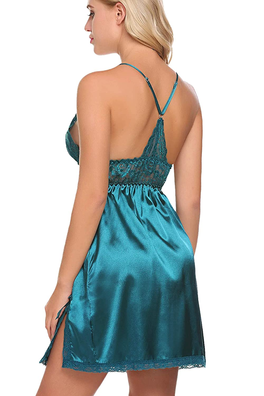 Avidlove Womens Pajamas Satin Nightgown Mini Slip Sleepwear Short Nightwear AML005024#