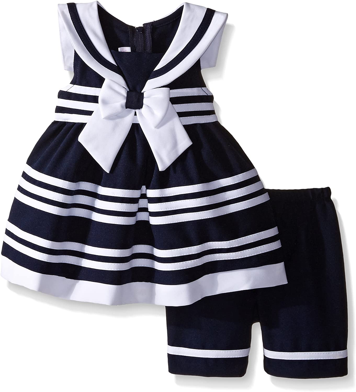 Bonnie Baby Cute Navy Nautical Coat and Dress Set