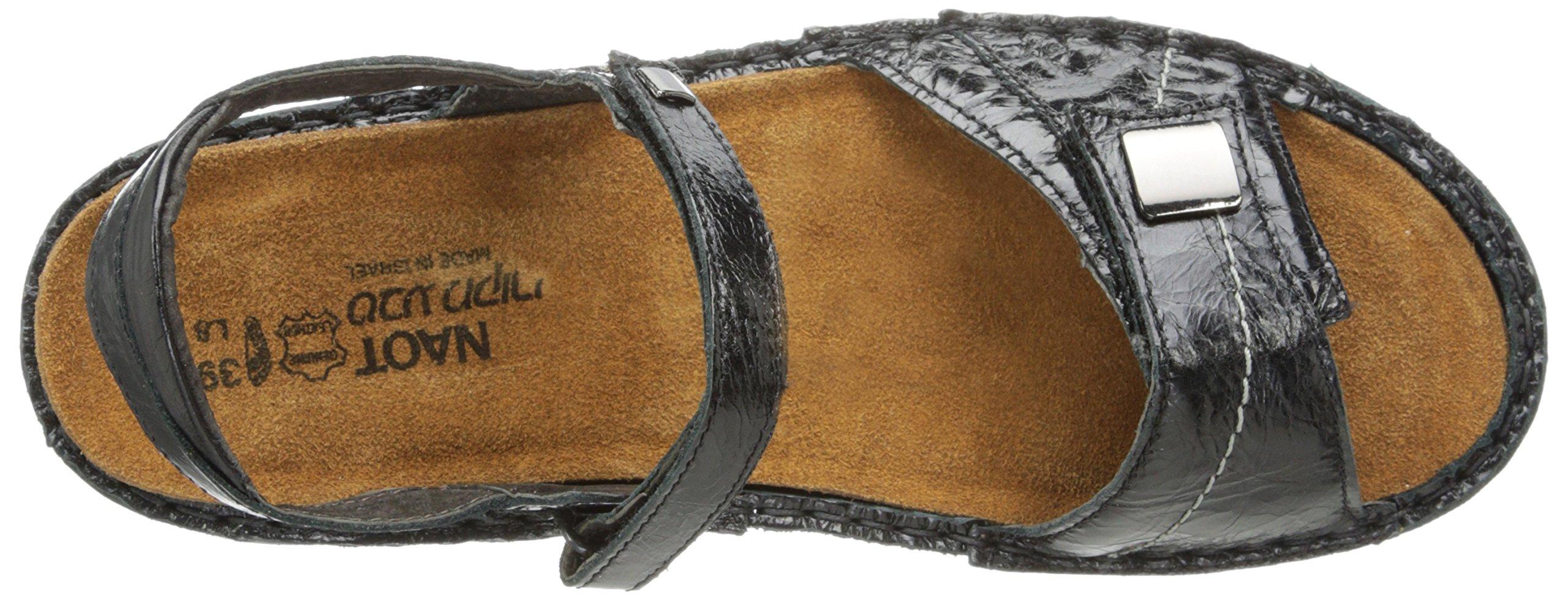 Naot Women's Papaya Flat,Black Madras Leather,40 EU/8.5-9 M US by NAOT (Image #8)
