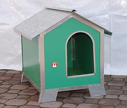 Caseta para perros Talla Media en madera con perfiles de acero (Medidas 76 x 56