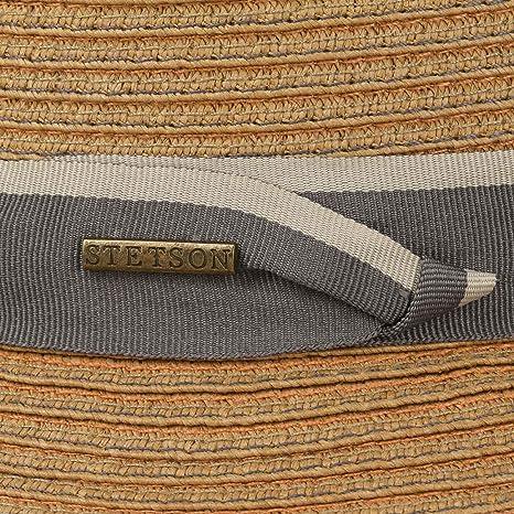 dd61287e363 Stetson Colourstitch Toyo Player Hat Beach Sun (S (54-55 cm) - Light  Brown)  Amazon.co.uk  Clothing