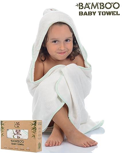 Lujosa Toalla de Bebé con Capucha de Bambú Orgánico Hipoalergénico y Antibacteriano |PekeBoo| Capa de Baño EXTRA SUAVE y ABSORBENTE para Recién ...