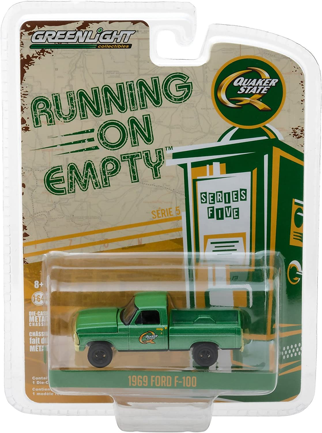 Trucks Series 16-1969 Ford F-350 Ramp Truck with Unrestored 1985 Ford 5610 Tractor 1:64 Scale Greenlight 33160-A H.D