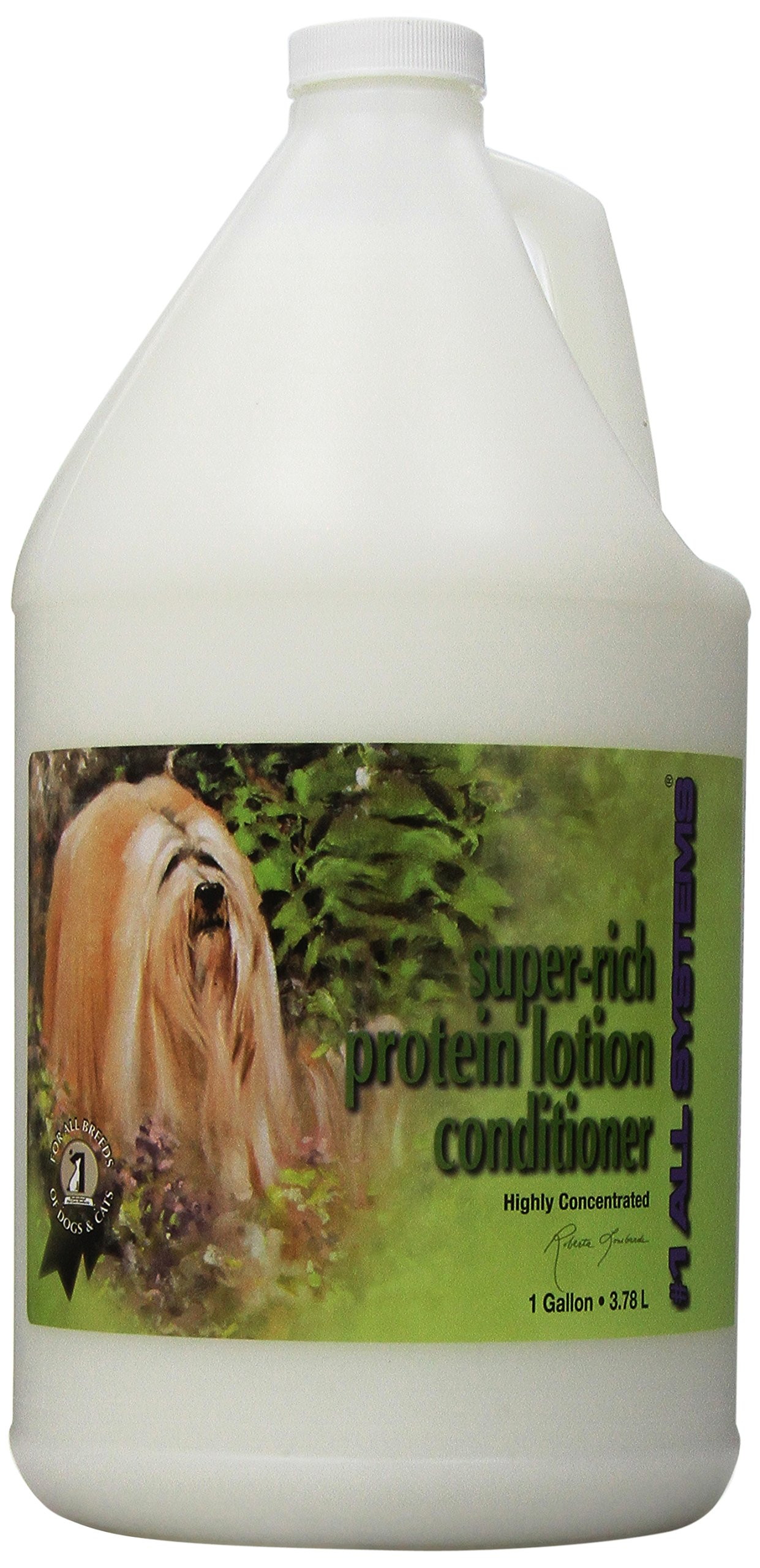 #1 All Systems Super-Rich Protein Lotion Pet Conditioner, 1-Gallon, Package may vary by #1 All Systems