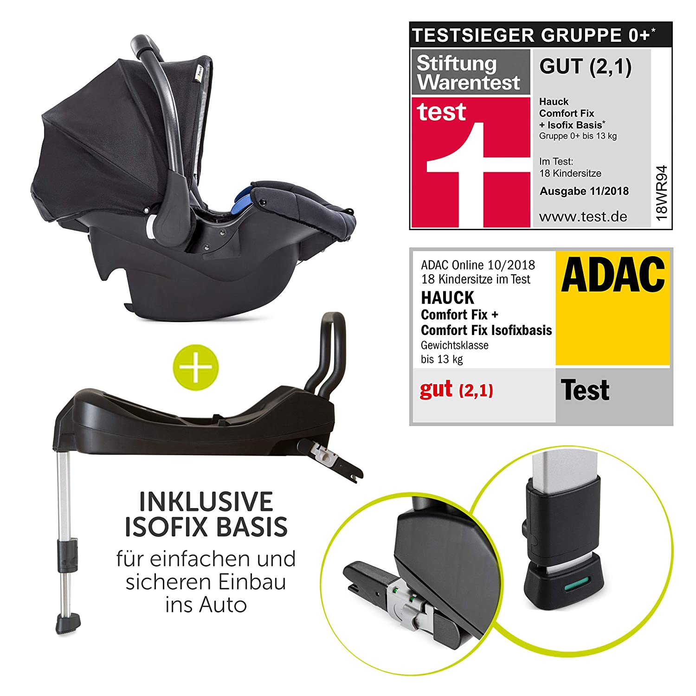 Hauck Rapid 4S Plus Trio Set - Cochecito 3 en 1 - capazo, sillita y grupo 0 con base ISOFIX para coche y accesorios - Sistema de viaje del nacimiento ...