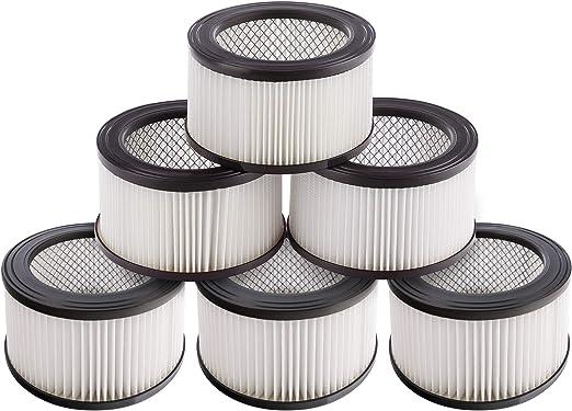 6 x Hepa filtros para aspiradora de cenizas, se puede lavar, fácil ...