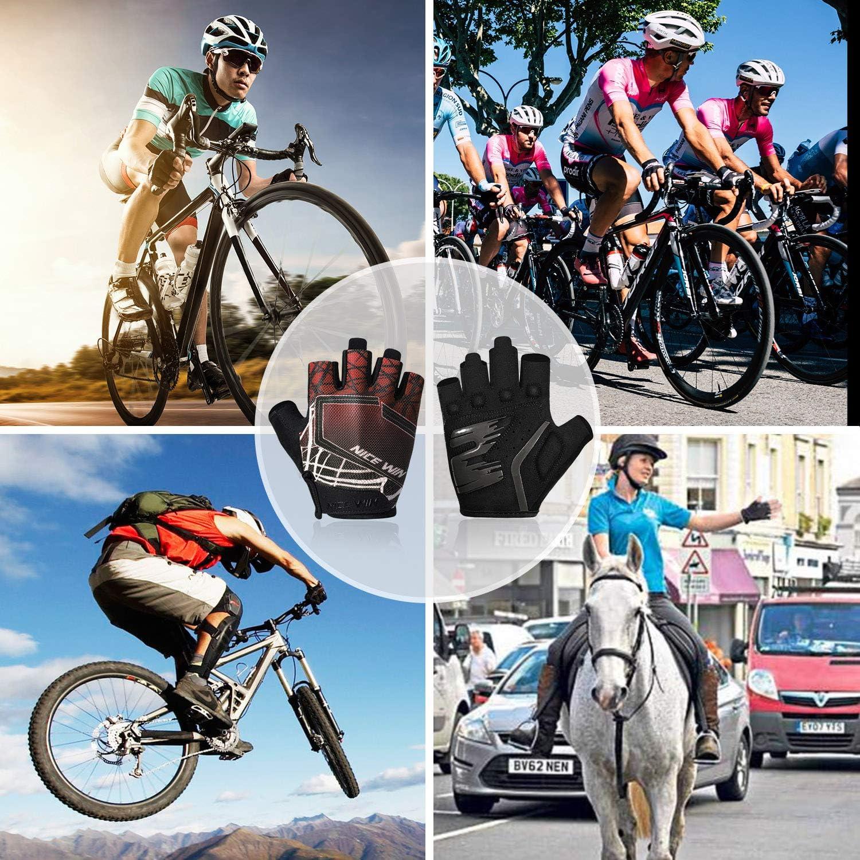 LOHOTEK Gants-Cyclisme Demi-Doigts pour Bicyclette-Moto VTT Gant-Velo Hommes Femmes Rembourr/é Antid/érapage Respirant