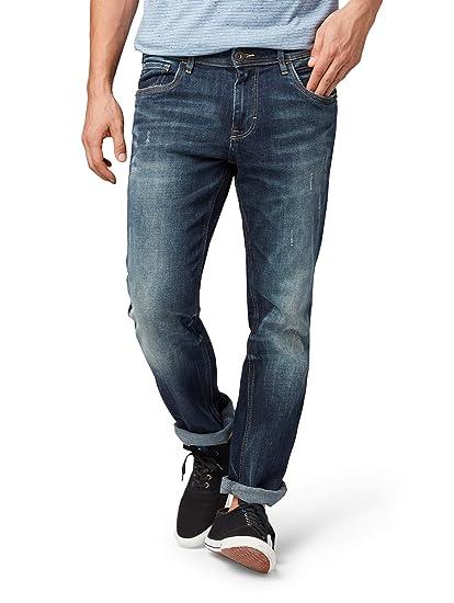 59f02c81a757 TOM TAILOR für Männer Jeanshosen Marvin Straight Jeans Dark Stone wash Denim,  36 32