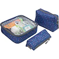 Travelon 3-Piece Toiletry Packing Set (Diamond Sparkle)
