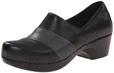 Dansko Women's Tenley Dress Pump, Black/Grey Nappa, 41 EU/10.5-