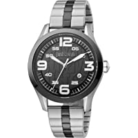 Just Cavalli Young Men's Black Dial Stainless Steel Analog Watch - JC1G108M0075