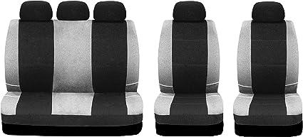 Universal asiento del coche gris referencias para opel corsa 1+1 Front fundas para asientos ya referencias